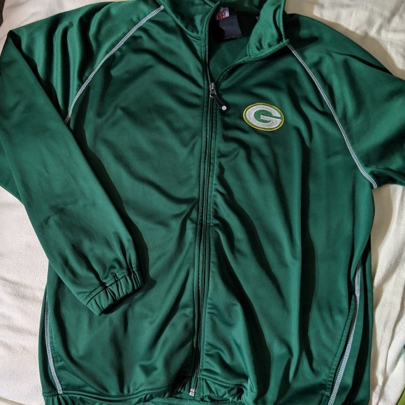 Wholesale NFL Jackets & Coats | Green Bay Packers Authentic Full Zip Up Jacket  free shipping